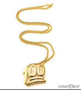 Keep it 100 Gold Necklace