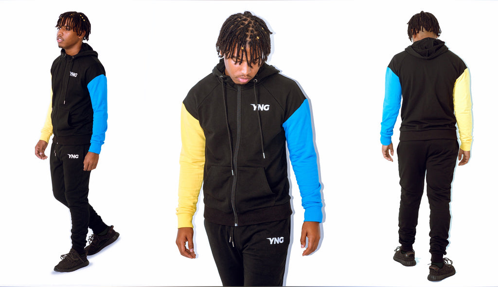 YNG Essential Tri Tech Fleece Zip Sweatsuit Set