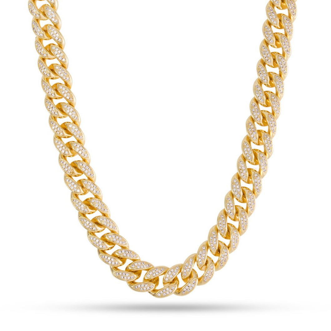 Diamond Crusted Cuban Link 18MM