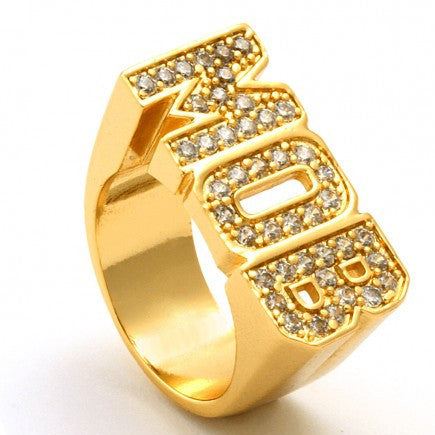 Gold CZ MOB Ring