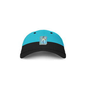 YNG Two Tone Independence Dad Hat in Aqua