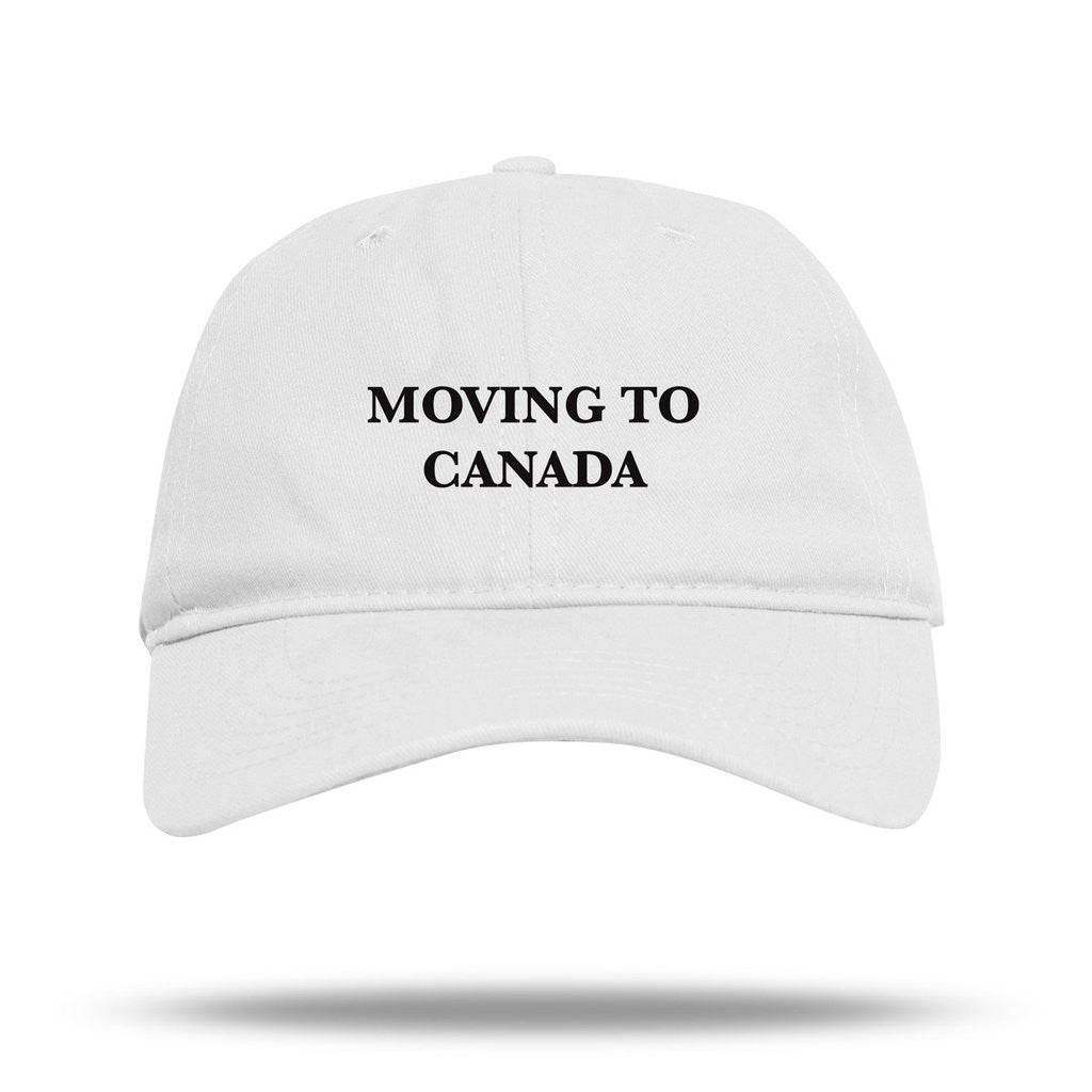 Moving to Canada Dad Hat in White