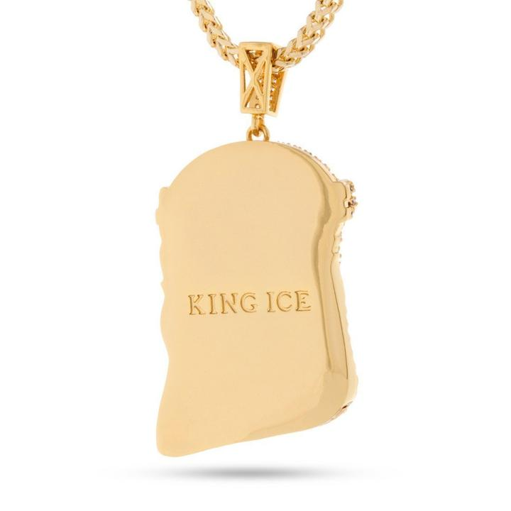 King Ice The 14K Gold Jesus Piece Necklace