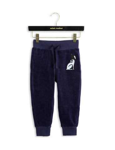 Mini Rodini - Pants - Velour Navy