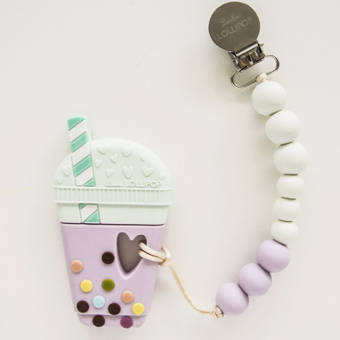 Lollipop - Jouet de dentition - Bubble Tea Lilac&Mint