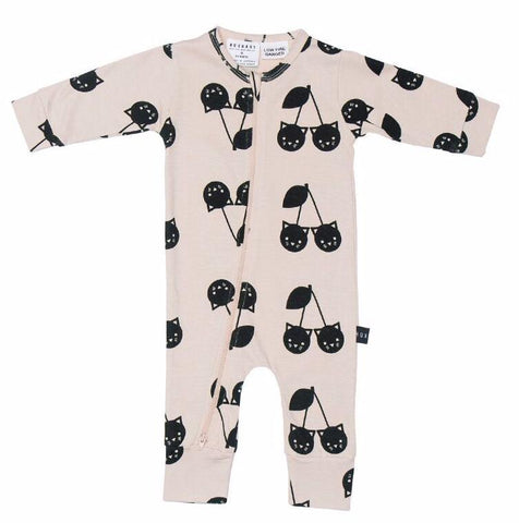 Hux Baby - Romper - Cherry Cat
