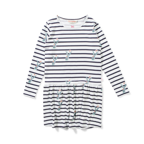 Munster Kids - Ouch Dress - Cream/Navy