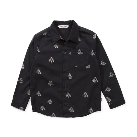 Munster Kids - Sun Rise Shirt - Soft Black