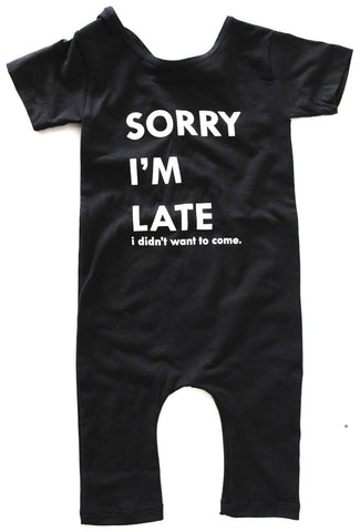 This kid's - Sorry I'm late - Romper