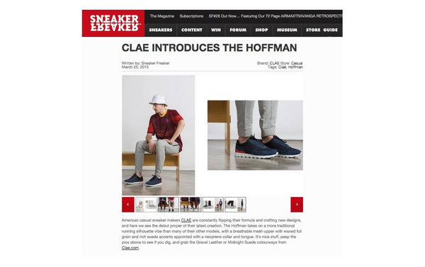 SNEAKER FREAKER : CLAE INTRODUCES THE HOFFMAN