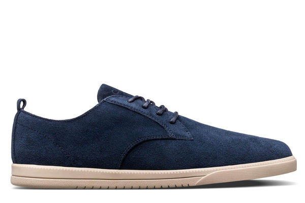 Derby Deep Navy waxed suede sneakers CLAE los angeles Ellington