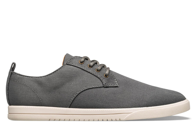 Derby dark charcoal grey textured canvas sneakers CLAE los angeles