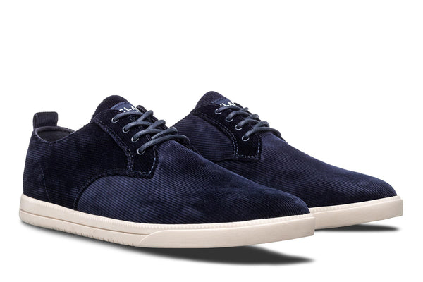Derby Corduroy deep navy textile sneakers CLAE los angeles Ellington