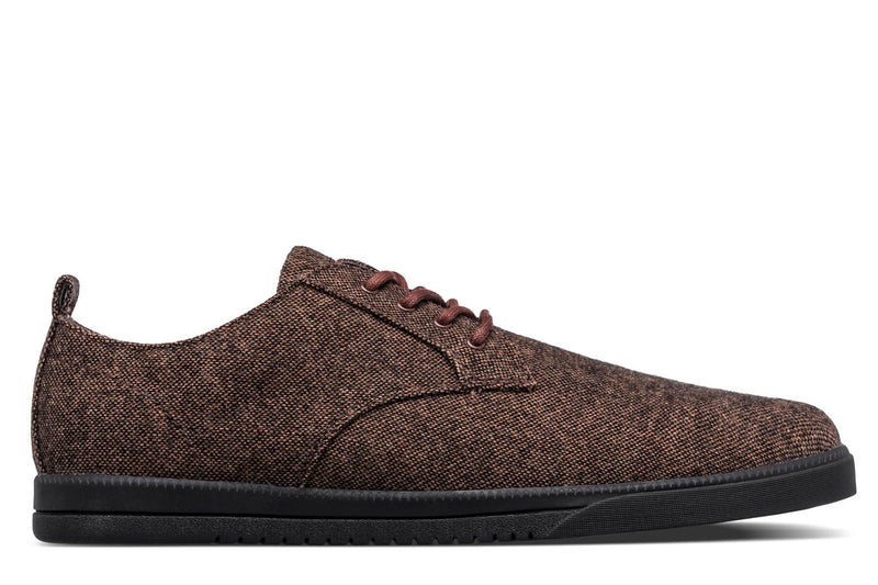 Derby Brown umber textured canvas sneakers CLAE los angeles