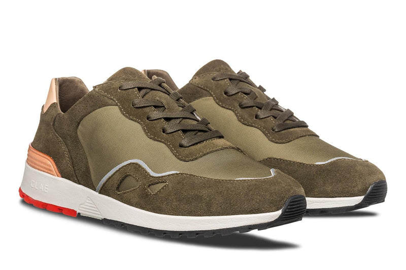 hiking green suede premium retro runner sneakers CLAE los angeles Hayden