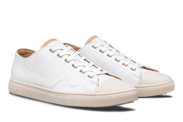 Premium white Nappa Leather toe cap sneakers CLAE los angeles Herbie