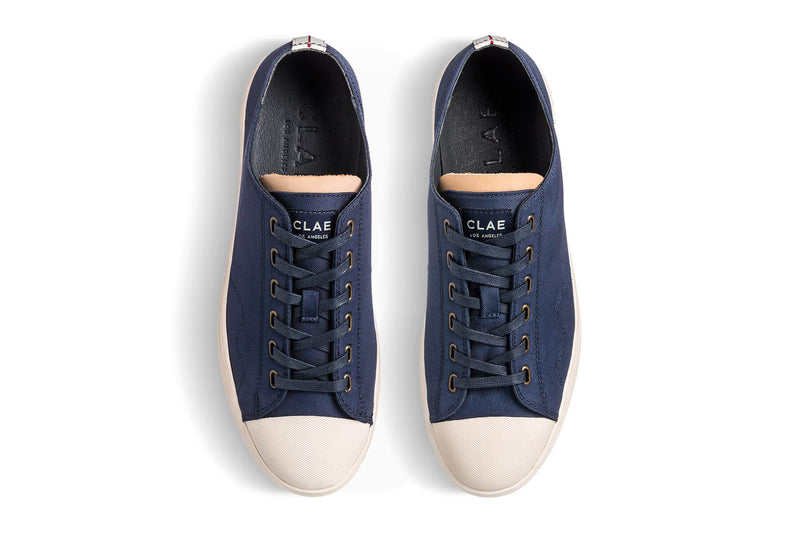 deep navy nylon toe cap sneakers CLAE los angeles Herbie