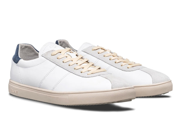Italian Nappa milled leather upper Court sneakers gazelle made by CLAE los angeles