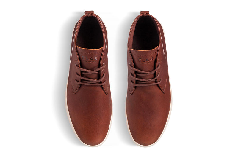 Desert Boots sneakers brown chestnut leather clae los angeles strayhorn sp