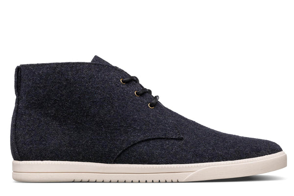 Desert Boots sneakers black wool textile clae los angeles