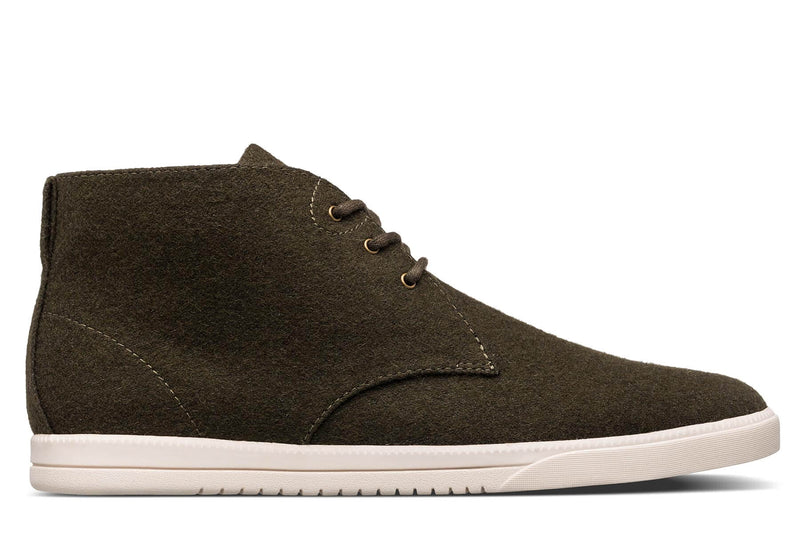 Desert Boots sneakers olive green wool textile clae los angeles