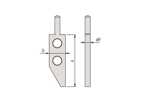 07CZA044 Mitutoyo Surface Plate Type Jaw for 552-Series Caliper