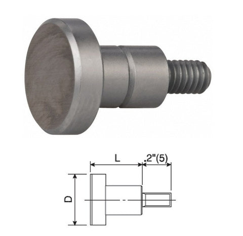 "101189 Flat Contact Point 3/8"" dia"