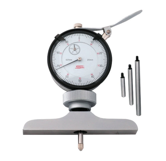 20-159-0 Dial Depth Gage 100mm Range, 101mm Base