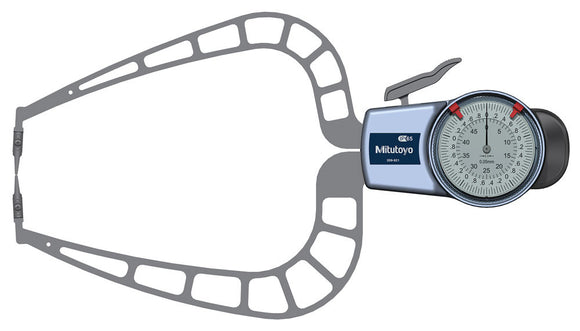 209-921 Mitutoyo Thickness Gage 50mm Range, 167mm Reach