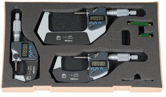293-960-30 Mitutoyo Digital Micrometer Set 0-3