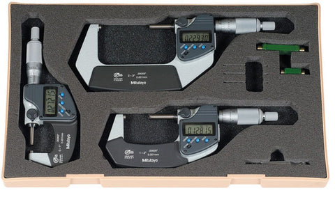 293-960-30 Mitutoyo Digital Micrometer Set 0-3""
