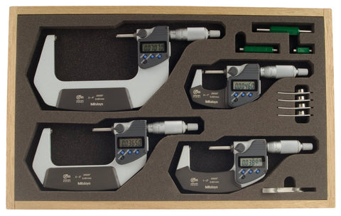 293-961-30 Mitutoyo Digital Micrometer Set 0-4""