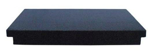 24x24x3 Granite Surface Plate, B Grade, 2 Ledges