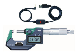 "3101-200E-USB INSIZE Micrometer 8"" to USB Interface Package"