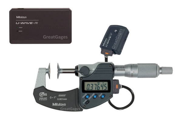 323-350-30-UWP Mitutoyo Disc Micrometer to PC Wireless Package
