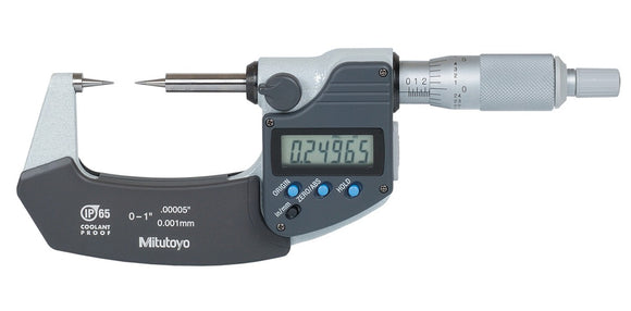 342-351-30 Mitutoyo 15° Point Micrometer 0-1