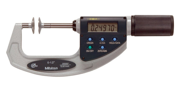 369-421 Mitutoyo Disc Micrometer Non-Rotating Spindle 0-1.2