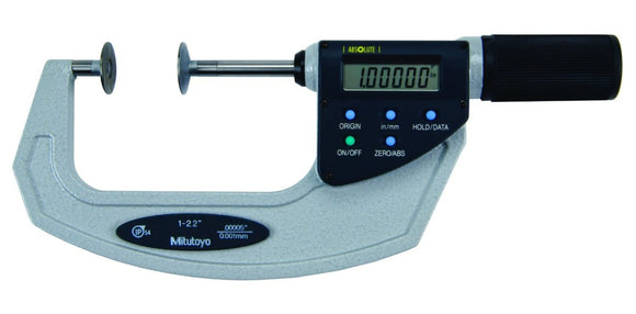 369-422 Mitutoyo Disc Micrometer Non-Rotating Spindle 1-2.2