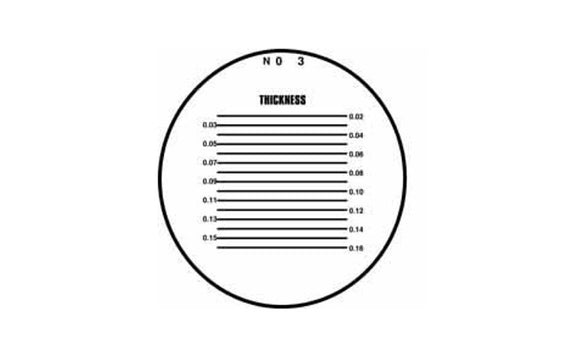 40-243-8 Pocket Comparator Reticle 10X