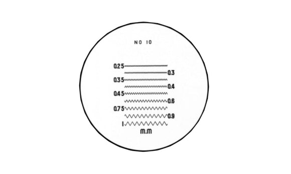 40-250-3 Pocket Comparator Reticle 10X