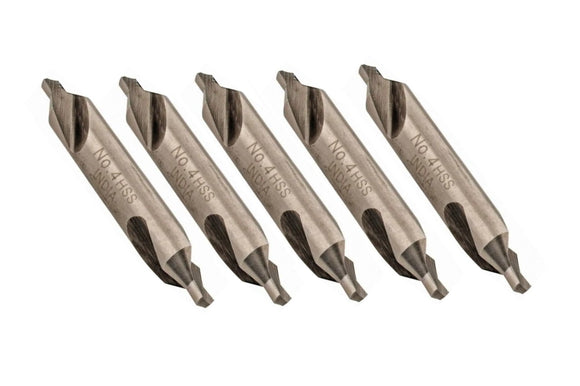 43-270-8 Size 4, 60° Center Drill 5 Pc