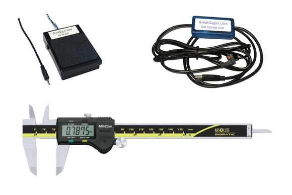 500-171-30-USB-FS Mitutoyo Caliper to USB with Footswitch Package, 6