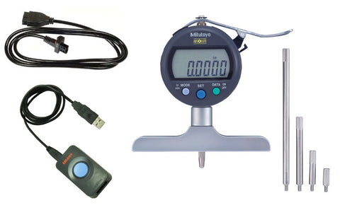 "547-218S-IP Mitutoyo Depth Gage 8"" Range to PC Interface Package"