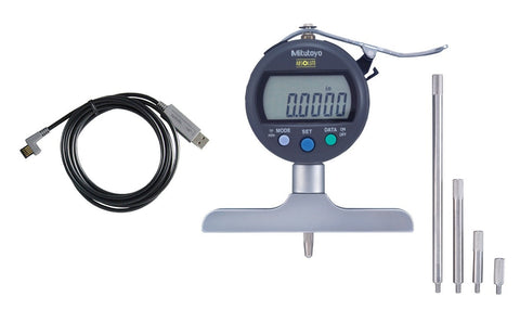"547-218S-USB Mitutoyo Depth Gage 8"" Range to USB Direct Package"