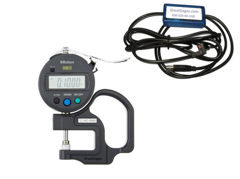 547-500S-USB Mitutoyo Thickness Gage to USB Package