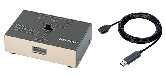939039-380D Mitutoyo 3-Channel Gage Interface Box to USB Package