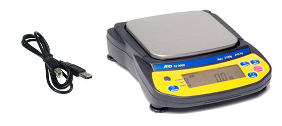 A&D EJ1500 Scale to PC-USB Package 1500 grams