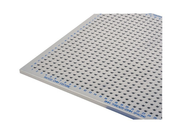 Rayco CMM Fixture Plate - 390x390mm M8 Threaded Holes