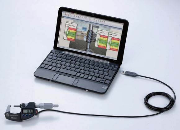 64AAB614-MIC-PKG Mitutoyo MeasurLink SPC Software 30-User License, Micrometer & USB Cable