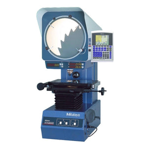 "302-704A Mitutoyo Vertical Optical Comparator 2"" x 2"" QM-Data & Stand"